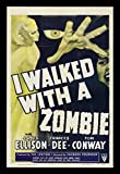 Old Tin Sign I Walked With A Zombie - Vintage Horror Movie Poster