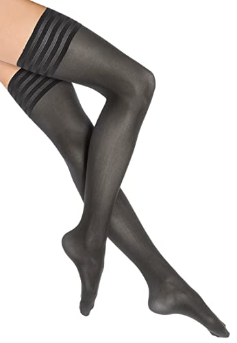 8ccaa414079 Wolford Women s Velvet De Luxe 50 Stay Up Tights at Amazon Women s Clothing  store  Wolford Tights Thigh High
