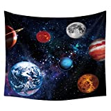 Space Decor Tapestry Roslynwood, Galaxy Stars in Space Celestial Astronomic Planets Planet Tapestry Universe Space Decor, Educational Solar System Planets, Wall Hanging Bedroom Living Room Dorm