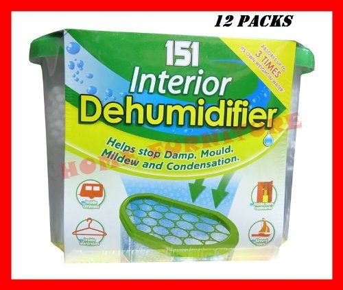 12 PACKS (151 Interior Dehumidifier) - Helps Stop Mould Mildew Damp & Condensation by Wilsons Direct