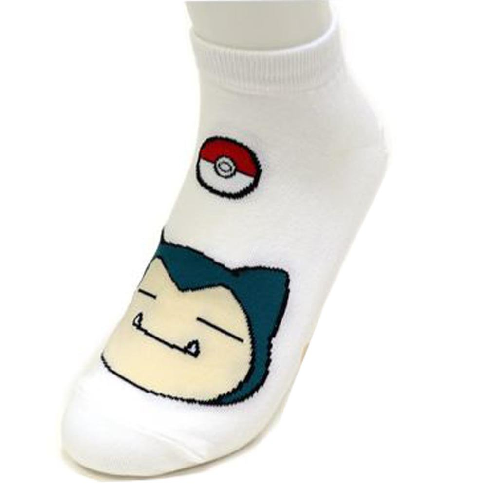 Boy's 6pk Low-Cut Socks Pokemon Go Meowth Snorlax Pikachu Ivysaur Charmander Character Women's Ankle Socks / Socks Gift by Small luxury socks factory (Image #2)