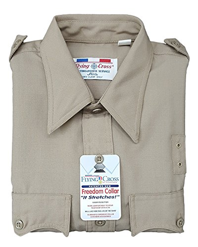 Flying Cross 40W9133 Men's Long Sleeve Uniform Shirt (16-33, Tan) ()