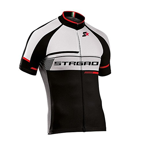 STRGAO Hommes Breathable Cycling Manches Courtes Cycling Jersey Vêtements Sports et Loisirs Maillot de Cyclisme Manches Courtes XL
