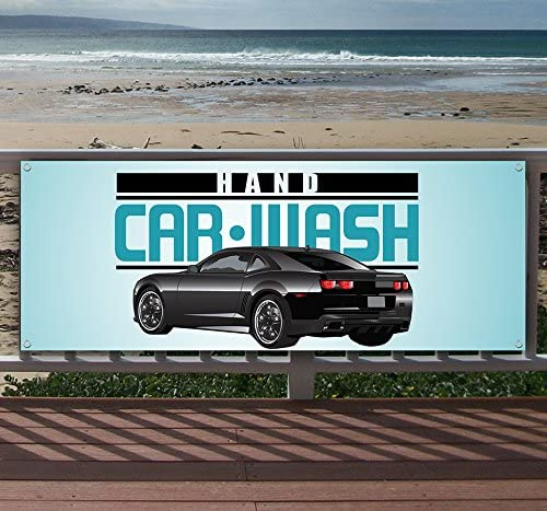 Flag, Advertising Car Wash 13 oz Heavy Duty Vinyl Banner Sign with Metal Grommets Many Sizes Available New Store