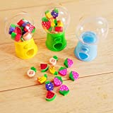 Botrong Lovely Hot Mini Candy Dispenser Gumball Vending Machine Coin Box Kid Baby Toy - Random Color - 1 Piece