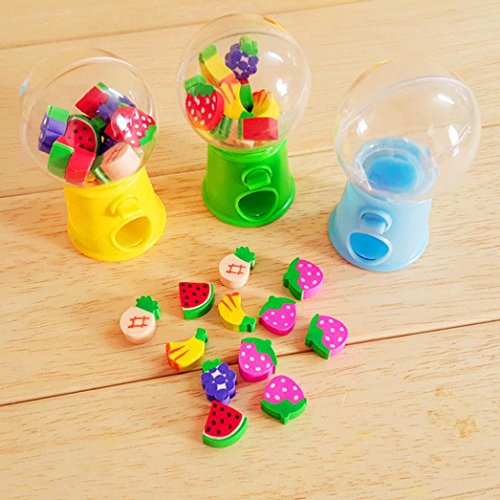 Botrong Lovely Hot Mini Candy Dispenser Gumball Vending Machine Coin Box Kid Baby Toy - Random Color - 1 Piece -
