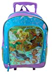 Tinkerbell Fairies 16 inch Rolling Backpack, Bags Central