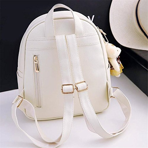 01 Pu 3Pcs Backpack Women 01 Bag Leather School wYwZ4HWxqp