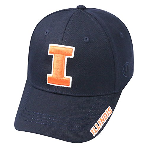 Acrylic Fighting Illini Football (Top of the World NCAA-Premium Collection-One-Fit-Memory Fit-Hat Cap-Illinois Fighting Illini)