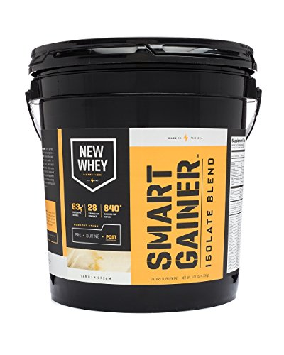 New Whey Nutrition Smart Gainer Isolate Supplement Blend, Vanilla Cream