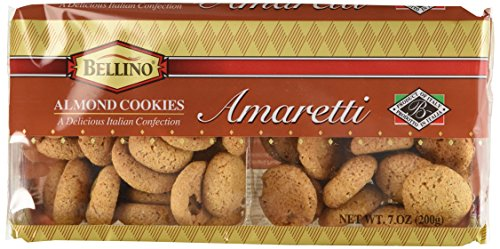 Bellino Amaretti (Almond) Cookies, 7 Ounce Packages (Pack of 12)
