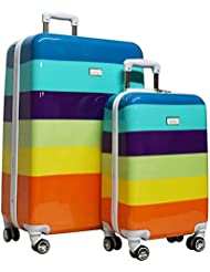Nicole Miller New York Rainbow Hard-Sided 2-Piece Spinner Set: 24 and 20