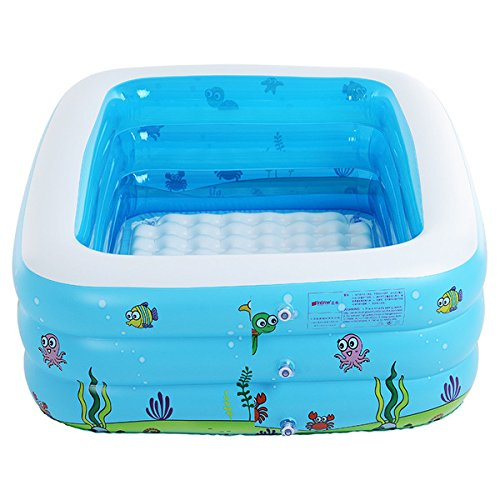 Kiddie Pool,Inflatable Baby Pool,Blow Up Swimming Pool,43''X 35''X 18'' by HAWKEYE