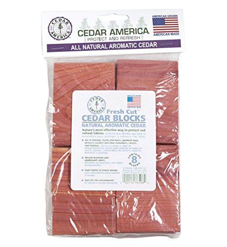 Cedar America Natural Aromatic Cedar Wood Blocks, 2-Pack (16 Blocks in total) by Cedar America (Image #6)