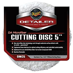 "Meguiar's DMC5 5"" DA Microfiber Cutting Disc, (Pack of 2)"