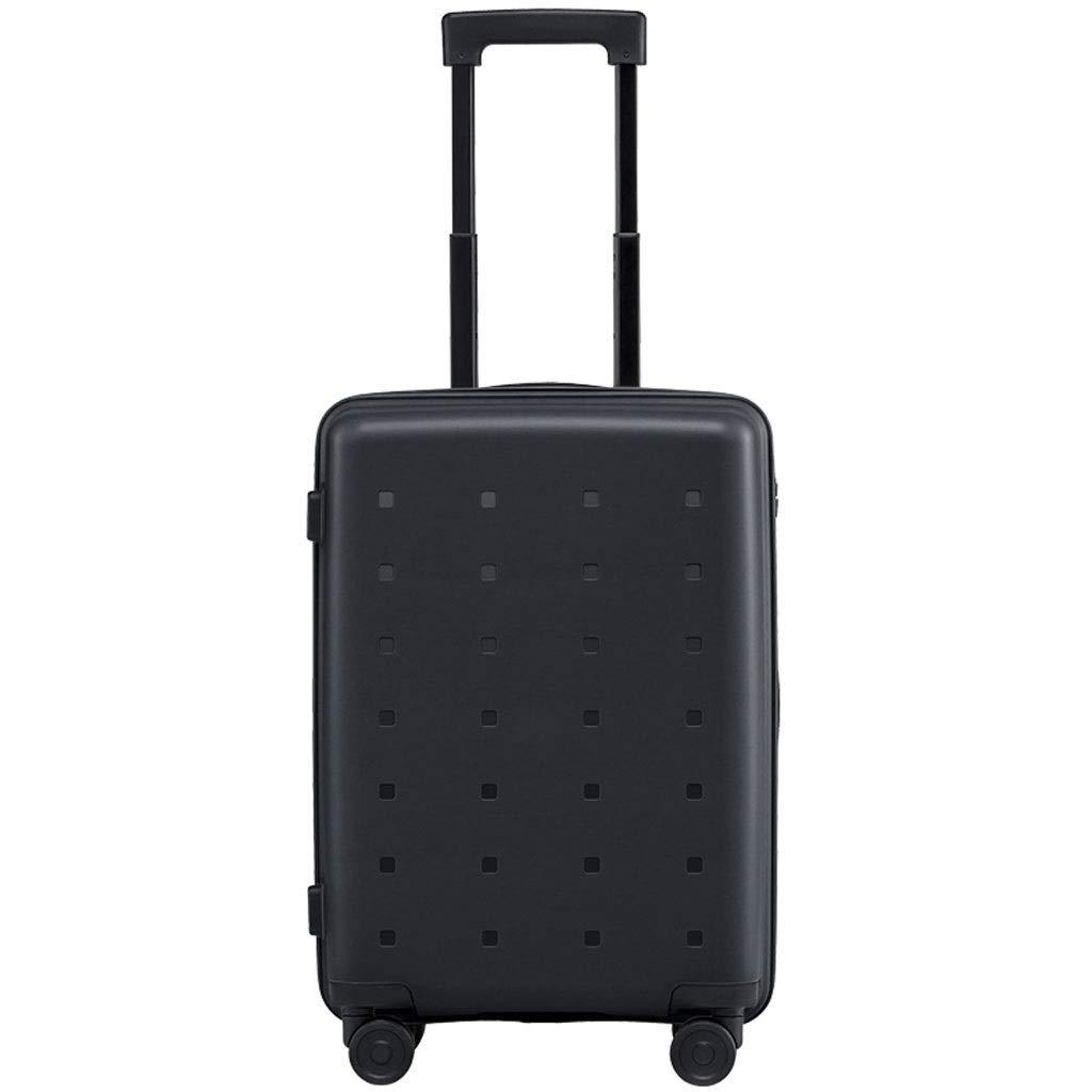 FRF トロリーケース- 男性と女性のためのスーツケース20インチトロリーケース搭乗パスワードボックススーツケース (色 : ブラック, サイズ さいず : 20in) B07QKRCL7Z ブラック 20in