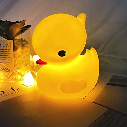 Dirance Deer Duck Whale Shaped LED Night Light Bedside Lamp for Kids Bedroom Decor (Yellow)