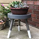 Modern Plant Stand Three Leg Stool Large by CW
