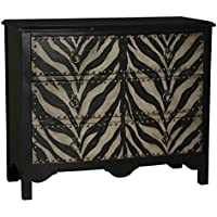 Pulaski Gabriella Accent Chest, 45.5 by 22.5 by 39-Inch, Black