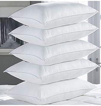Pumpum Hollow Fibre Filled 5 Piece Pillow Set 17 X 27 Antique White
