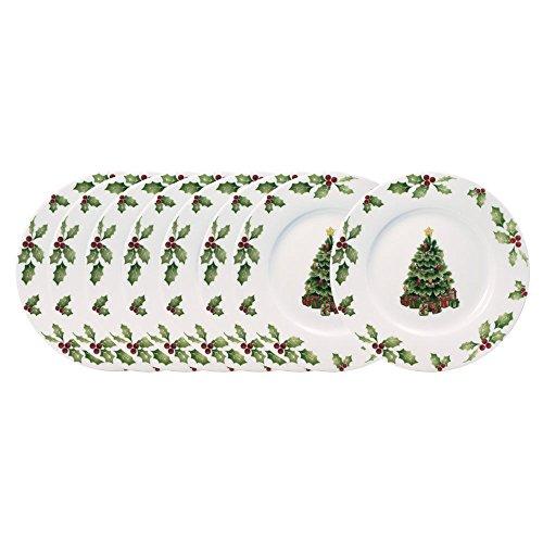 Pfaltzgraff Christmas Day Salad Plates, Set of 8