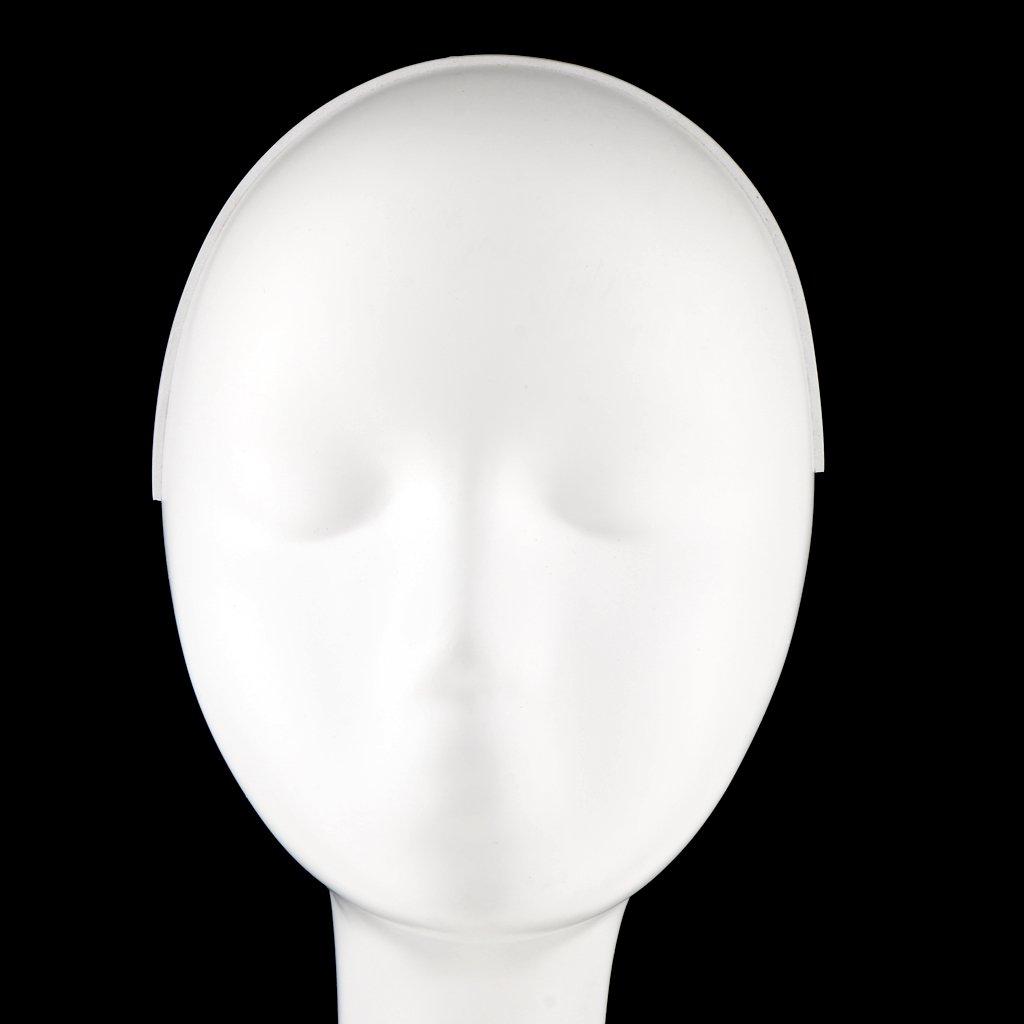 A Modelo de Cabeza Maniqu/í Femenina de Cuello Largo Soporte de Exhibici/ón de Peluca Sombrero Tapa Bufanda Joyer/ía