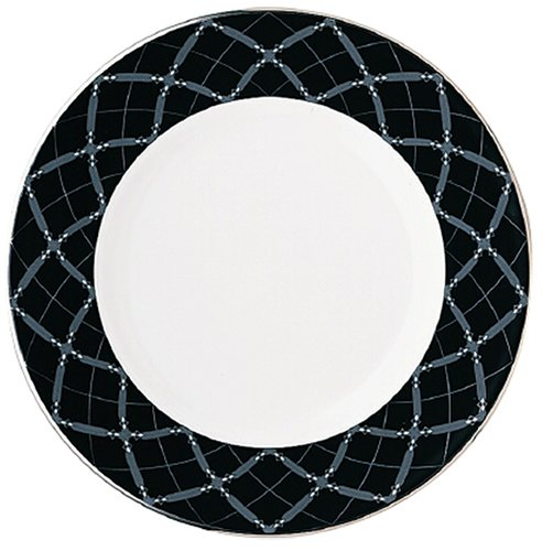 (Lenox Diamond Solitaire Platinum Banded Bone China Accent Plate, 9-Inch)