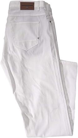 Amazon Com Zara Man Pantalones De Golf Elasticos De Algodon De 5 Bolsillos Color Blanco Skinny 32 36 Blanco Clothing