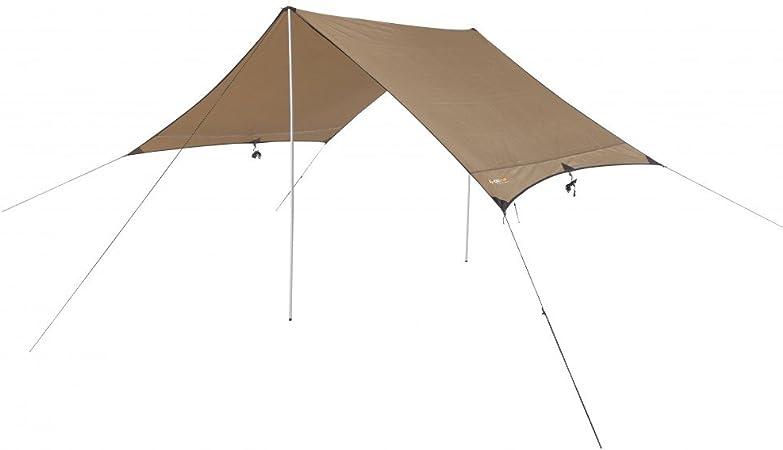 HIKER FLY - Lona para Camping - Toldo Protector del Sol - Carpa Tarp Impermeable para Acampar, Compacta y Fuerte Toldo de Excursionista 350x210cm. ...