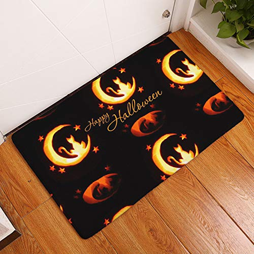 Vibola Halloween Door Mat Non Slip Door Floor Mats Hall Rugs for Kitchen Bathroom Carpet Decor (G, 19.68