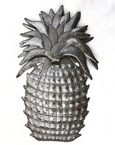 Pineapple, Welcome Home Wall Decor, Recycled Haitian Metal Steel Art 9