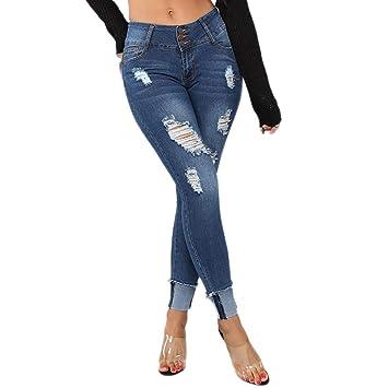 Damen Tasche Denim Hose Übergröße Taste Lange Jeans Bleistift Yogogo Sommer Yoga Leggings Hosen Hohe Taille Pants Sexy Druck