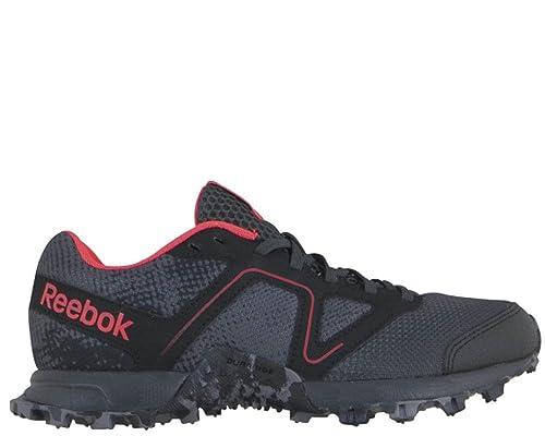 brand new 0a112 42315 Reebok Women s Dirtkicker Trail II Running Shoes Shark Gravel Black Neon  Cherry 8 B(M) US  Amazon.ca  Shoes   Handbags
