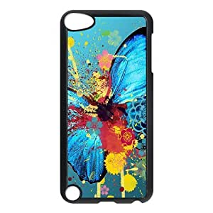 S-ADFG Customized Print Butterfly Pattern Hard Case for iPod Touch 5