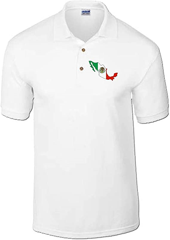 T-Shirtshock - Polo TM0211 Mexico Bandera flag, Talla XXL: Amazon ...