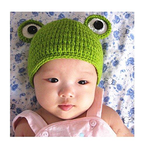 Newborn Handmade Crochet Knit Cap Make Your Baby Looks More Lovely Frog Hat