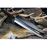Yoshihiro Hongasumi White Steel Black Hammered Forged Yanagi Sashimi Knife (10.5 IN)