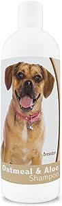 Healthy Breeds Aloe & Oatmeal Dog Shampoo for Puggle - Over 200 Breeds - 16 oz - Mild & Gentle for Sensitive Skin - Hypoallergenic Formula & pH Balanced