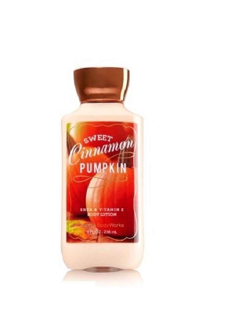 Bath & Body Works Shea & Vitamin E Body Lotion Sweet Cinnamon Pumpkin 8 Oz