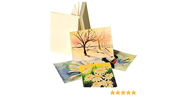 Pack of 25 64 x 89mm 3.5 x 2.5 Artcoe- ARTCOE Paperwave Artists Trading Cards 300gsm watercolour card ACEO