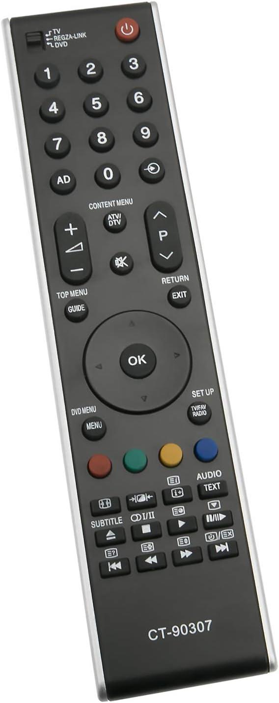 ALLIMITY CT-90307 Telecomando Sostituisci per Toshiba REGZA LED LCD TV 19AV506DG 26AV505D 26AV505DG 32AV504DG 32AV505 32AV505D 32AV505DG 32AV555D 32AV555DB 32AV555DG 32AV565DG 32C3035D 32CV504: Amazon.es: Electrónica