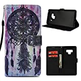 Samsung Galaxy Note 9 Wallet Case, Mavis's Diary Fashion Premium PU Leather Wallet 3D Cute Design Painted Pattern Floral Flip Folio Case with Soft TPU Inner Cover – Totem Wind Chimes