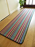 Rugs Superstore NEW MULTI COLOURED MODERN WASHABLE NON SLIP KITCHEN UTILITY HALL LONG RUNNER DOOR MAT RUG (7 (66x225cm)