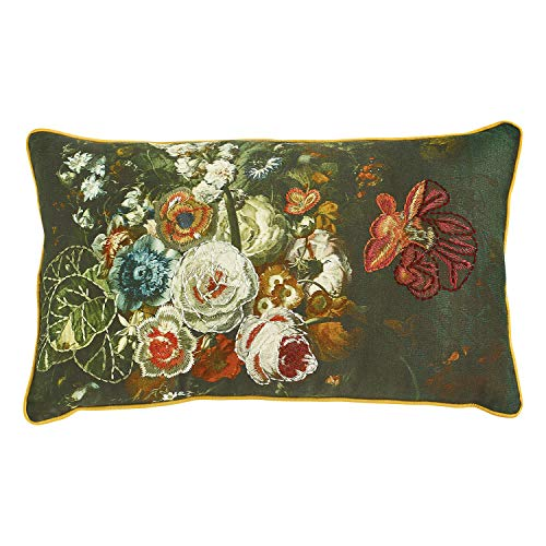 Amazon.com: Creative Coop Floral - Cojín de acento bordado ...