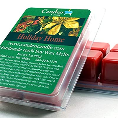 Holiday Home, Super Scented Soy Melt Cubes, Pack of 2, Christmas Wax Melts