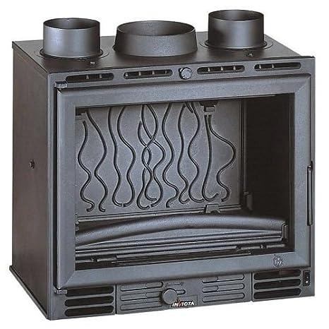 Invicta - Estufa de quemar de madera compacta con ventiladores integrados para empujar más aire caliente, salida de calor de 4 - 8 kW: Amazon.es: Hogar