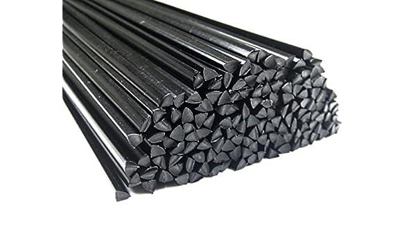 Alambre de soldadura de plástico POM 4mm Triangulares Negro 25 barra: Amazon.es: Coche y moto