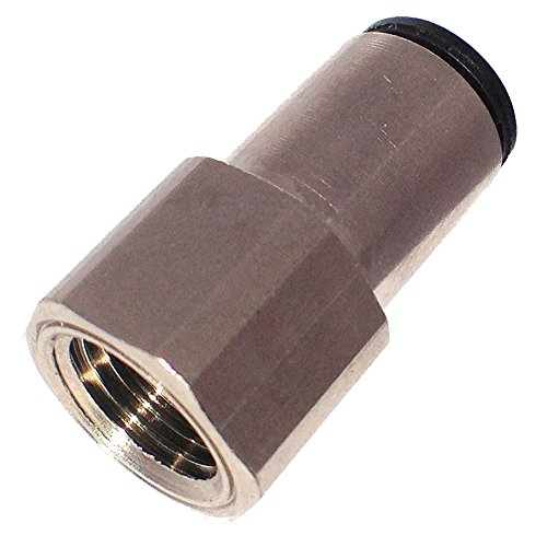 Push-to-Connect and NPTF Connector Pack of 20 Brass Fitting 1//2 and 3//8 Tube to Female Pipe Parker 66PMT-8-6-pk20 Push-to-Connect D.O.T