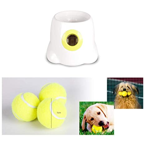 Máquina de Lanzamiento de Bolas Lanzador automático de Bolas para Mascotas Perros Sincronización Tenis para Mascotas