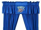Oklahoma City Thunder 5 Pc Valance/Drape Set (Drapes Size 82 X 63) For Sale